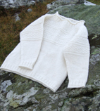 Childs sweater in natural colored organic wool